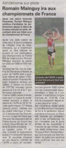 Read more about the article News de Romain Mainguy