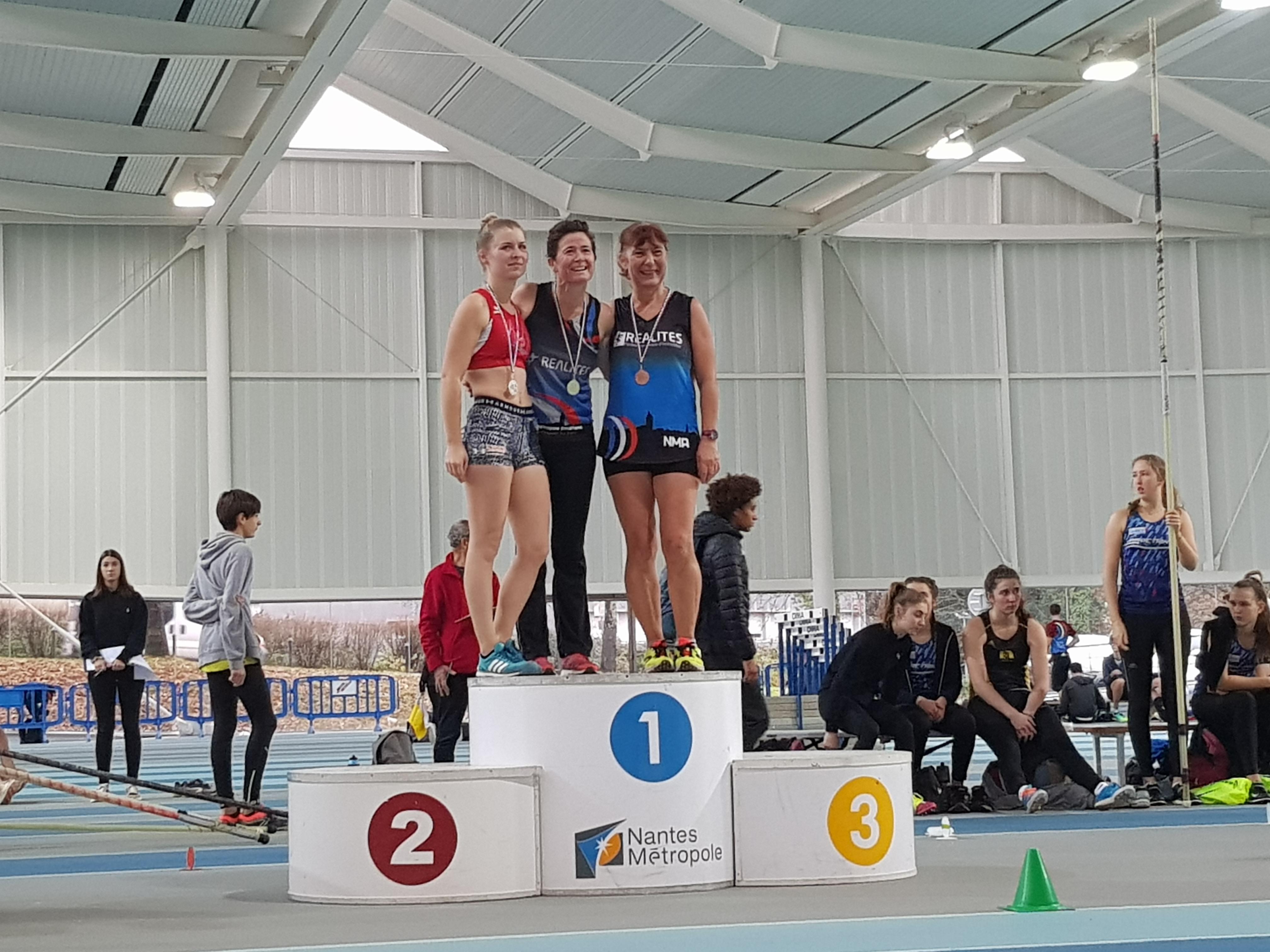 You are currently viewing Un podium par épreuve aux départementaux Indoor Cadets à Master